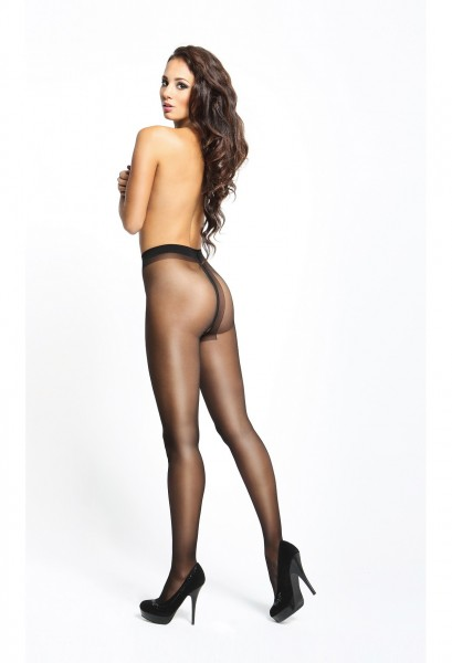 Pantyhose open crotch black 20den
